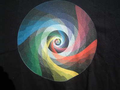 Color Swirl Black Shirt Example